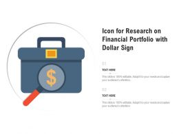 Icon For Research On Financial Portfolio With Dollar Sign