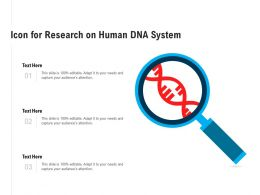 Icon For Research On Human DNA System