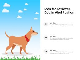 Icon For Retriever Dog In Alert Position