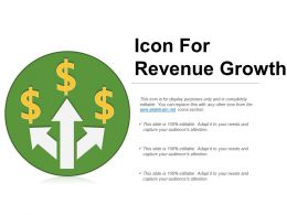 Icon For Revenue Growth Powerpoint Templates