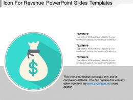 Icon For Revenue Powerpoint Slides Templates