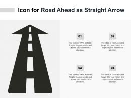 Icon For Road Ahead As Straight Arrow