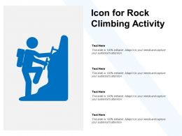 Icon For Rock Climbing Activity
