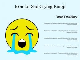 Icon For Sad Crying Emoji