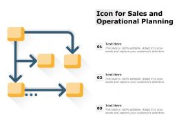 Icon For Sales And Operational Planning