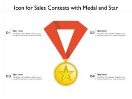 Icon For Sales Contests With Medal And Star