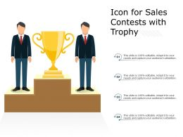 Icon For Sales Contests With Trophy