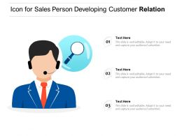 Icon For Sales Person Developing Customer Relation