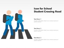 Icon For School Student Crossing Road