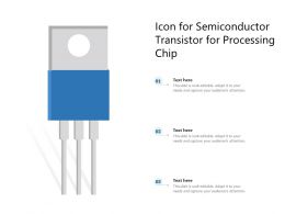Icon For Semiconductor Transistor For Processing Chip