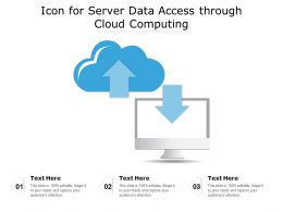 Icon For Server Data Access Through Cloud Computing
