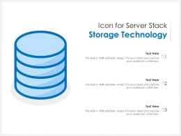 Icon For Server Stack Storage Technology