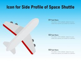 Icon For Side Profile Of Space Shuttle