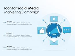 Icon For Social Media Marketing Campaign