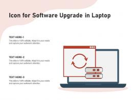 Icon For Software Upgrade In Laptop