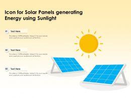 Icon For Solar Panels Generating Energy Using Sunlight