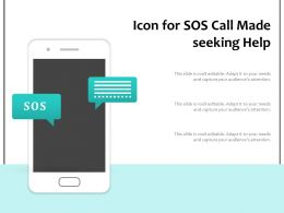 Icon For SOS Call Made Seeking Help