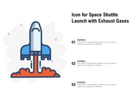 Icon For Space Shuttle Launch With Exhaust Gases