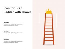 Icon For Step Ladder With Crown