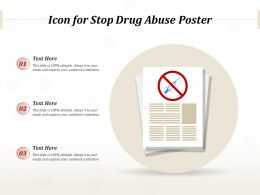 Icon For Stop Drug Abuse Poster