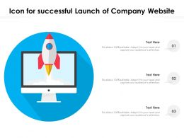 Icon For Successful Launch Of Company Website