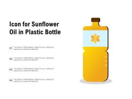 Icon For Sunflower Oil In Plastic Bottle