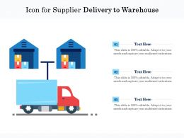 Icon For Supplier Delivery To Warehouse