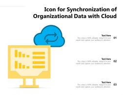 Icon For Synchronization Of Organizational Data With Cloud