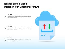Icon For System Cloud Migration With Directional Arrows