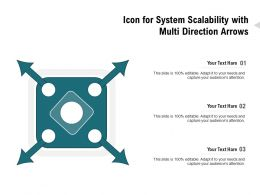 Icon For System Scalability With Multi Direction Arrows