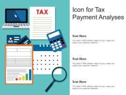 Icon For Tax Payment Analyses
