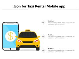 Icon For Taxi Rental Mobile App