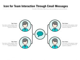 Icon For Team Interaction Through Email Messages