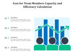 Icon For Team Members Capacity And Efficiency Calculation