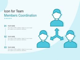 Icon For Team Members Coordination