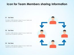 Icon For Team Members Sharing Information