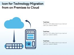 Icon For Technology Migration From On Premises To Cloud