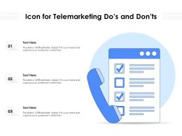 Icon For Telemarketing Dos And Donts