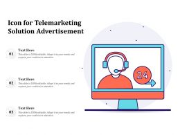 Icon For Telemarketing Solution Advertisement