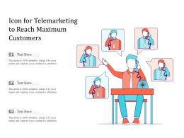 Icon For Telemarketing To Reach Maximum Customers