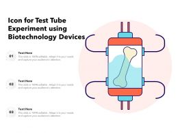 Icon For Test Tube Experiment Using Biotechnology Devices