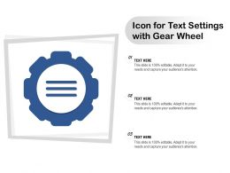 Icon For Text Settings With Gear Wheel
