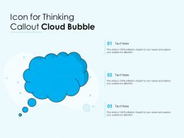 Icon For Thinking Callout Cloud Bubble