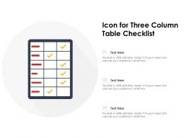 Icon For Three Column Table Checklist