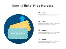 Icon For Ticket Price Increase