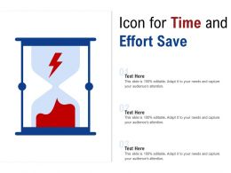 Icon For Time And Effort Save