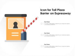 Icon For Toll Plaza Barrier On Expressway