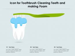 Icon For Toothbrush Cleaning Teeth And Making Foam
