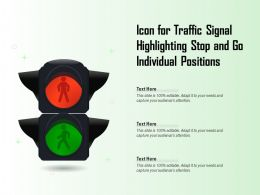 Icon For Traffic Signal Highlighting Stop And Go Individual Positions