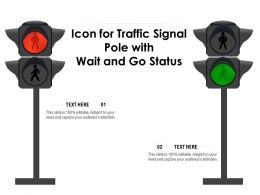 Icon For Traffic Signal Pole With Wait And Go Status